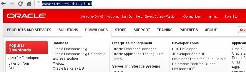 Oracle database descargar
