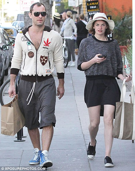 aaeb75d2a3602 Jude Law was spotted out with his new girlfriend Ruth Wilson yesterday. The  couple met last year and were dating while he was also dating Sienna Miller.