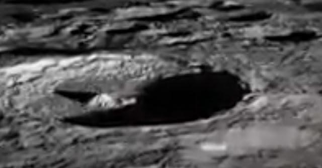 Close look at the Pyramid in NASA footage.