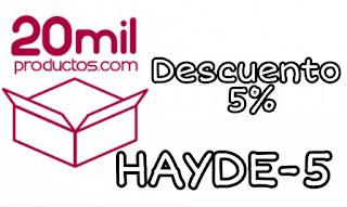 codigo de descuento de 5% HAYDE-5