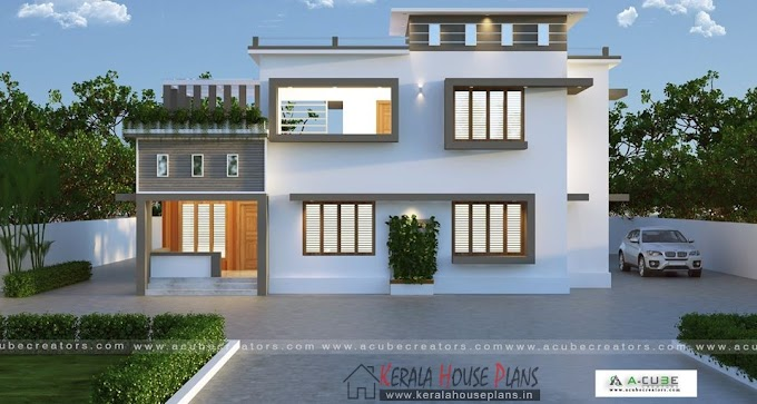 An ideal flat roof double storey home