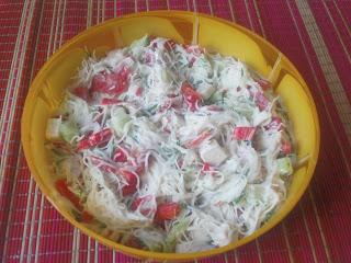 Salatka Z Makaronem Ryzowym I Paluszkami Krabowymi Ii