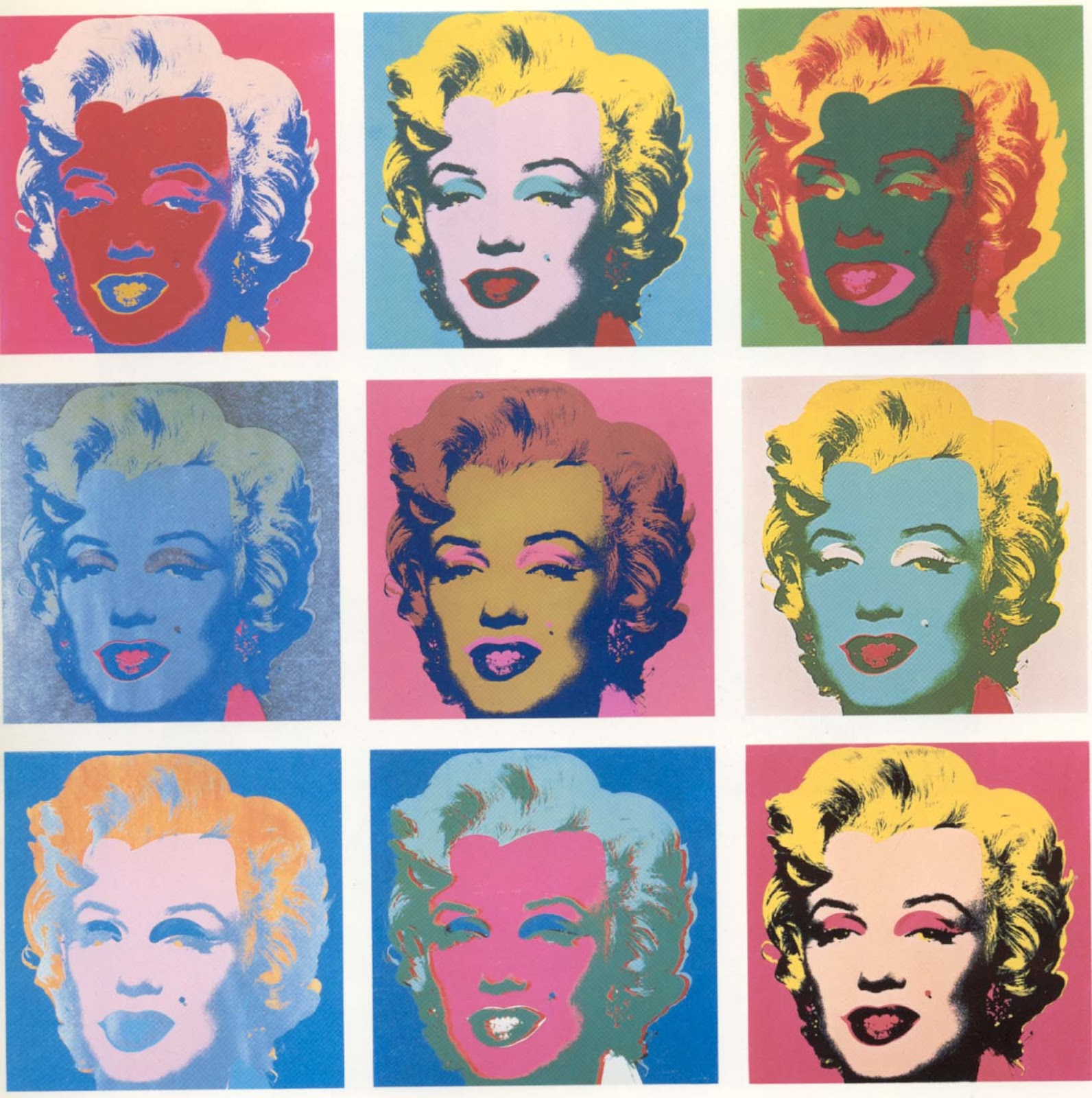 Photography into Painting: Myrilyn Monroe by Andy Warhol ...