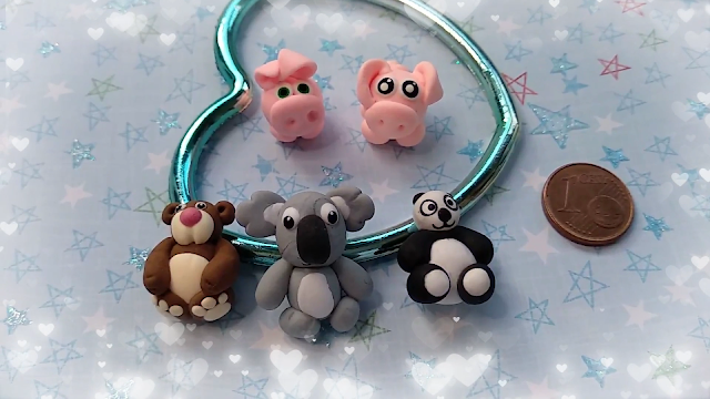 Miniaturas-animales-tipo-peluches-con-masa-flexible-de-secado-al-aire