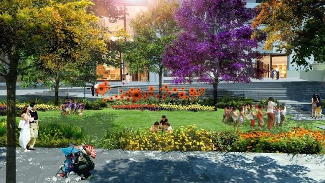 Vườn hoa trẻ thơ tại The Emerald
