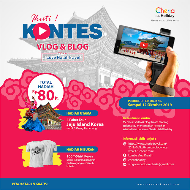 Lomba Blog & Vlog Kreatif #2 Cheria Holiday