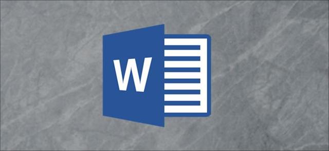 شعار Microsoft Word على خلفية رمادية