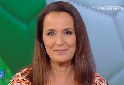 Roberta Capua rughe viso primo piano età 53 anni 2021
