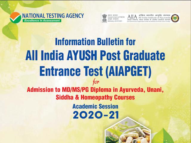 All India AYUSH Post Graduate Entrance Test 2020
