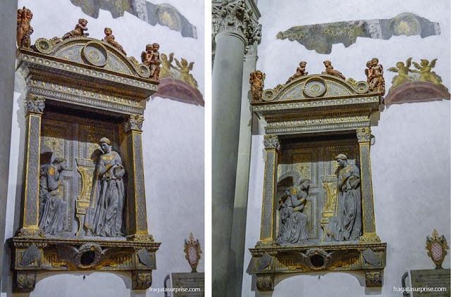 A Anunciação, de Donatello, na Basílica de Santa Croce, Florença
