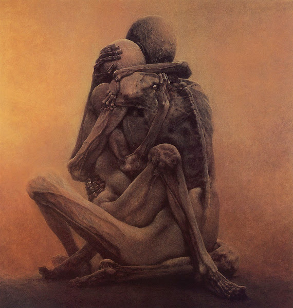 Zdislaw Beksinski, Macabre Art, Macabre Paintings, Horror Paintings, Freak Art, Freak Paintings, Horror Picture, Terror Pictures