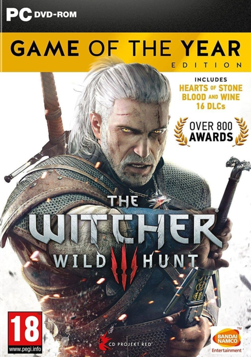 Descargar The Witcher 3 Wild Hunt GOTY PC Cover Caratula