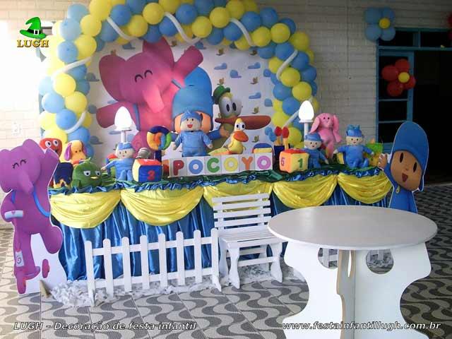 Mesa temática infantil de 1 ano luxo - Decoração festa Pocoyo