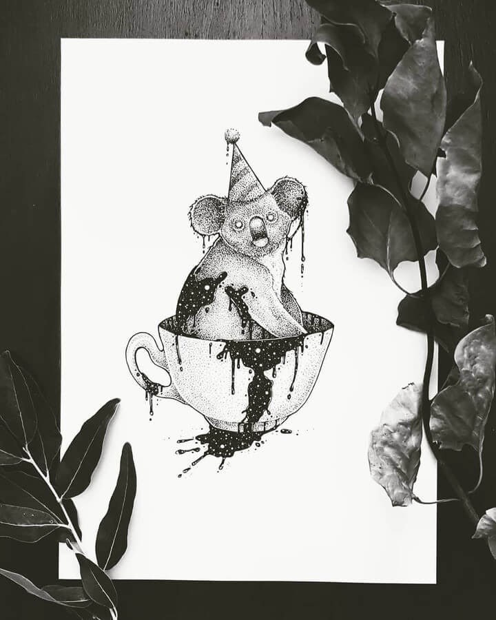 04-Party-Koala-Juan-Velilla-Drawings-www-designstack-co