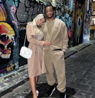 Georgina Gentle with her boyfriend Diamond Batiste