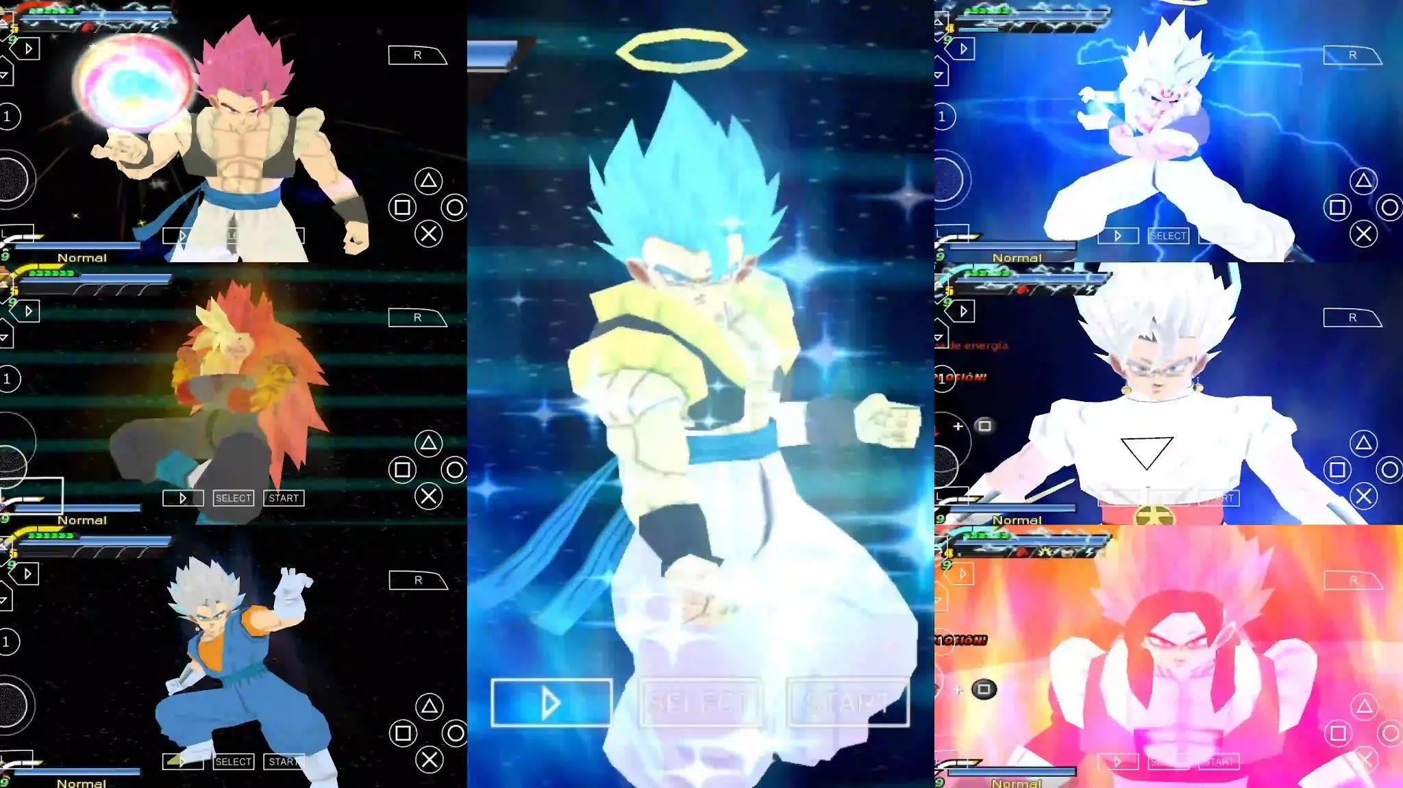 Dragon Ball Super Gogeta VS Vegito all Forms