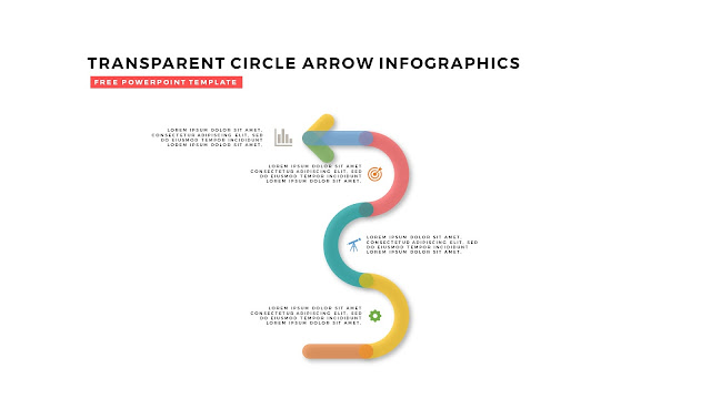 Free PowerPoint Design Elements with Transparent Curved Arrows in White Background Slide 3