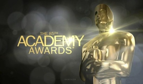 'The 85th Annual Academy Awards' graphic card with statuette