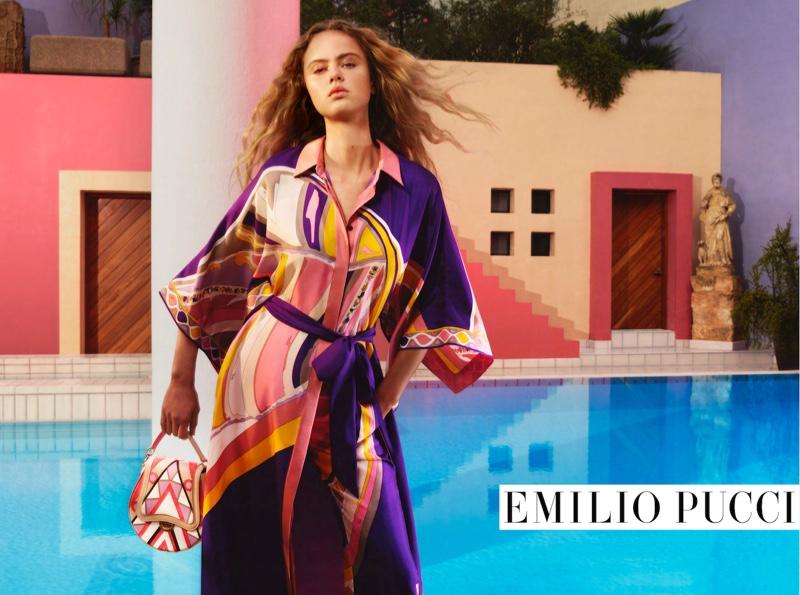 Emilio Pucci Spring/Summer 2020 Campaign featuring Olivia Vinten