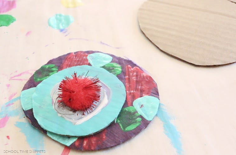 FLOWER CRAFT FOR KIDS USING CARDBOARD