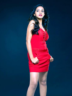 Bhavana Hot images in Red Dress