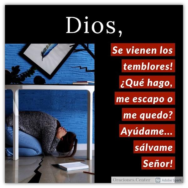 Oración para Temblores y Terremotos
