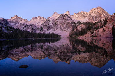 Image of Alice Lake reflection, Sawtooths