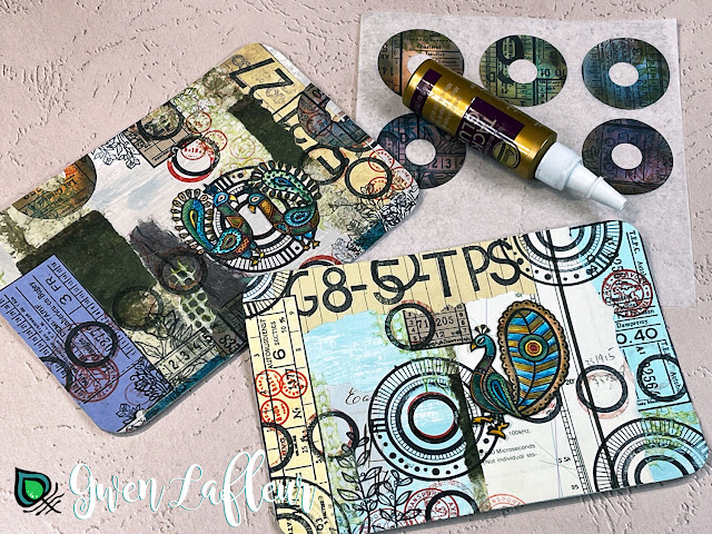 Gwen Lafleur May 2021 PaperArtsy Stamp Release - Project Tutorial Step 4