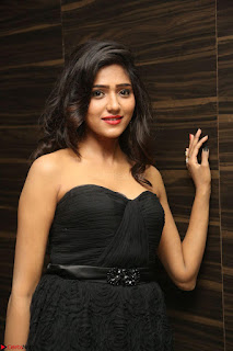 Shalu Chourasiya in spicy Sleeveless Strapless Black Top at O Pilla Nee Valla Movie Audio Launch Feb 2017 106.JPG