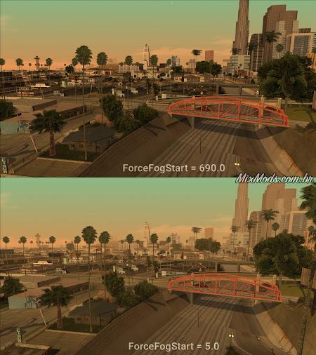 gta sa mod graphics tweaker gráficos hd ps2 fog