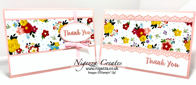 Nigezza Creates with Stampin' Up! needle point nook