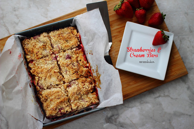 Easy Strawberries and Cream Cookie Crumble Bars can be whipped up in less than an hour.