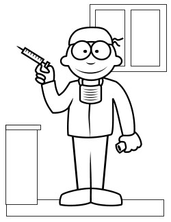 free doctor coloring pages - photo#11