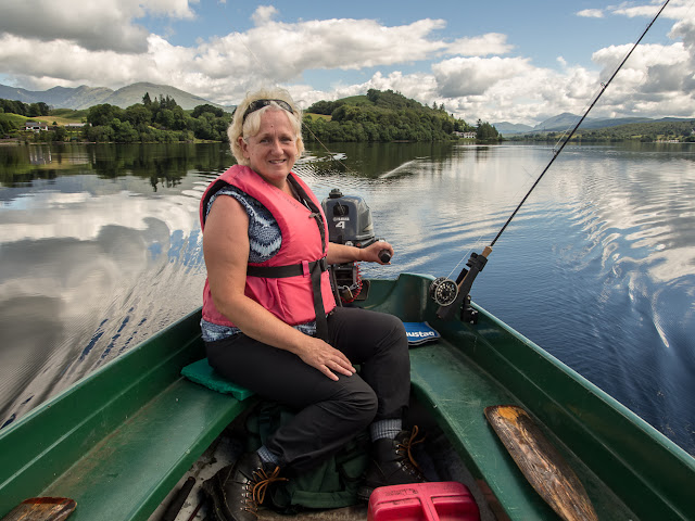Photo of mefFishing - or at least trying to fish - on Loch Awe