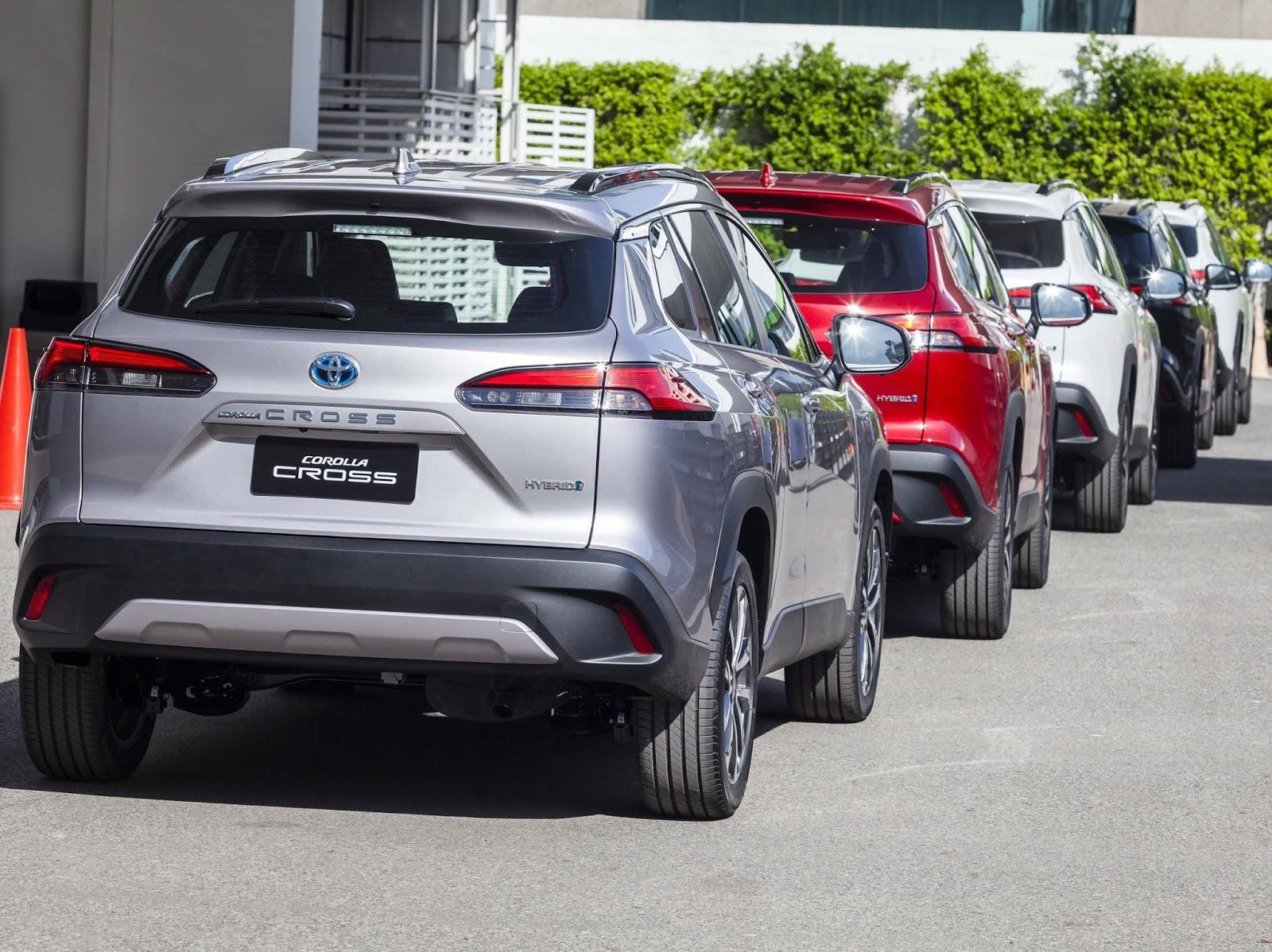 Toyota Corolla Cross híbrido flex brasileiro será exportado para 22 países