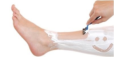 Cara menghilangkan bulu kaki