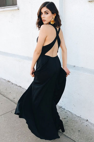 Long Black Dress | 21+ Pretty Fall Outfits Inspired by Fashion Influencers