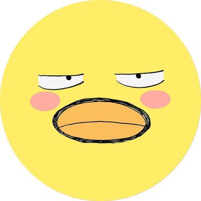 افتار رسومات بطة صفراء لحسابك على مواقع التوصل