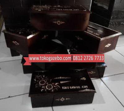 Kotak Tisu Kayu