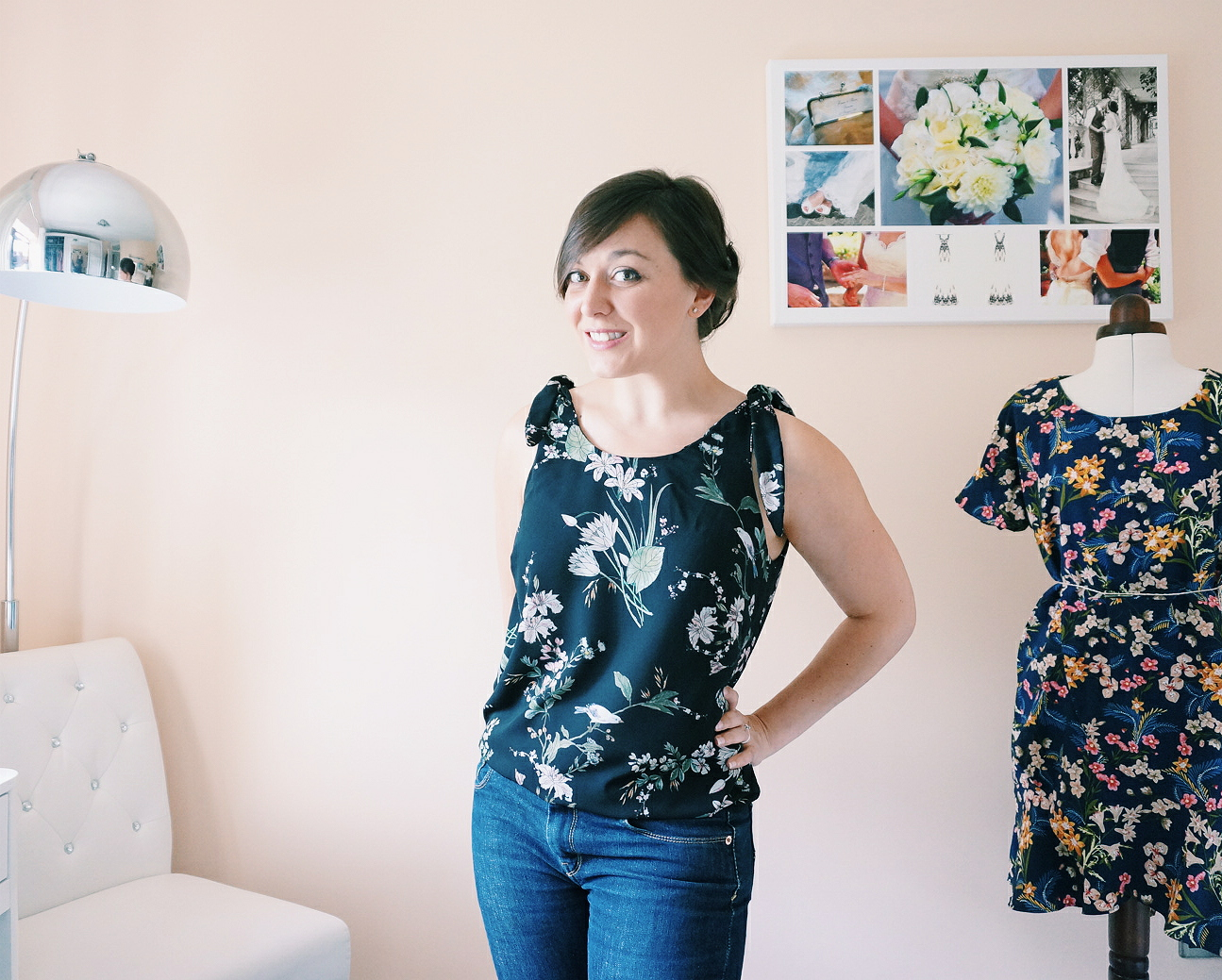 June's #wardrobebuilder project; Seamwork patterns Gretta vest