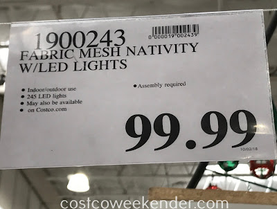 Deal for the Fabric Mesh Nativity with LED Lights at Costco