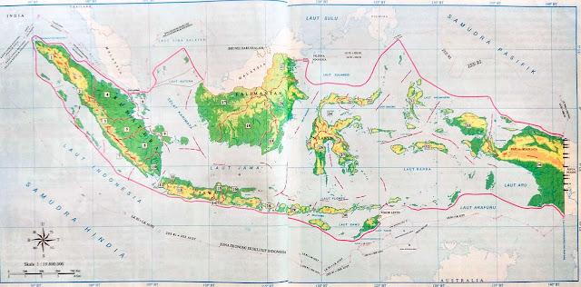 Gambar Peta Batas Wilayah Indonesia Lengkap