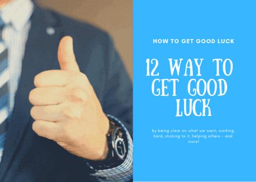 12 طريقه للحصول علي حظ جيد