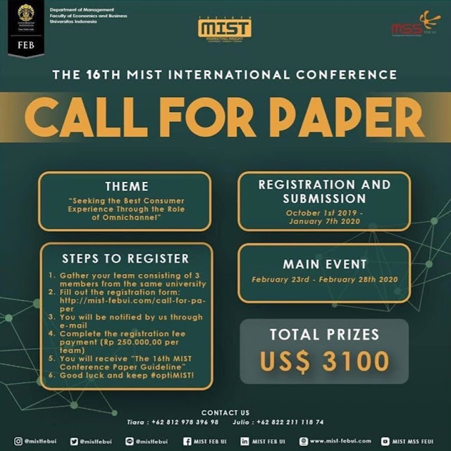 Call for Paper The Mist International Confereces