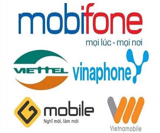 Thẻ Điện Thoại : Viettel, Mobi, Vina, Gmobile, Vietnamobile