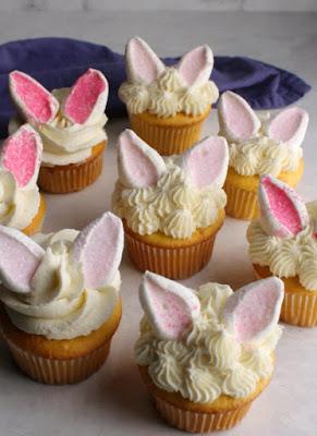 close up of rabbit cupcakes