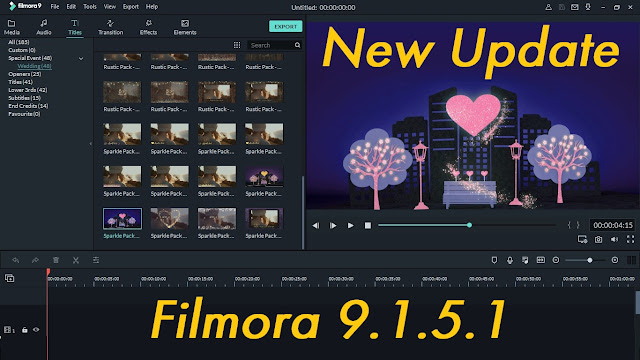 Review New Update Wondershare Filmora 9.1.5.1 + Effects Packs