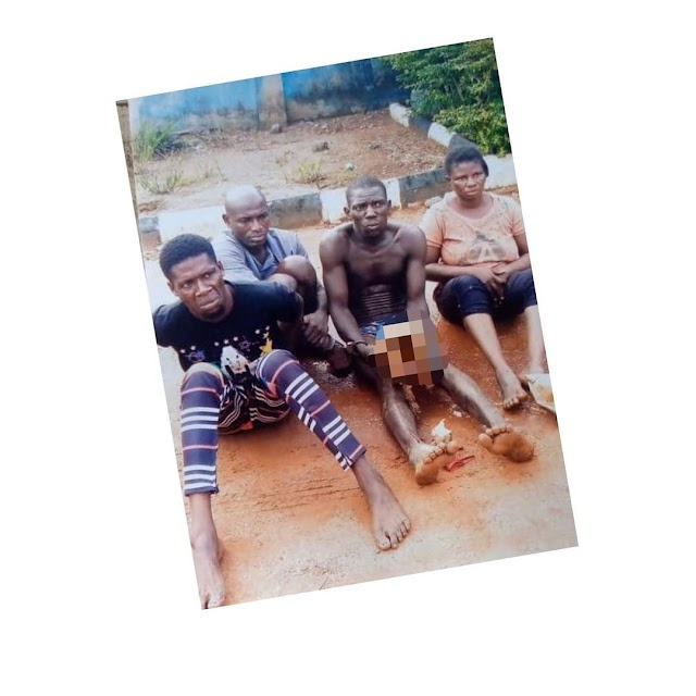 Couple & Two Others Found With Human Skull In Odogbolu Local Government, Ogun State. PHOTOS