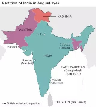 How was India partitioned? Important interesting facts related to this.