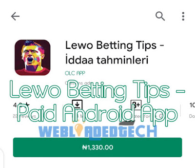 Download  Lewo Betting Tips - Paid Android App (Hack version)